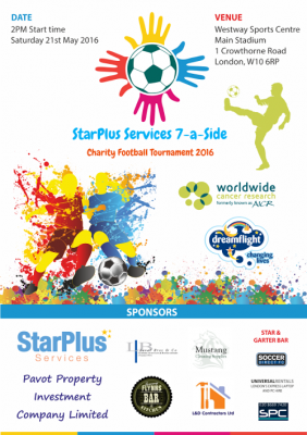 StarPlus Services Charity Tournament 2016 Flyer