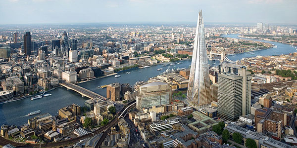 Shard London Bridge becomes the Europe's tallest office skyscraper